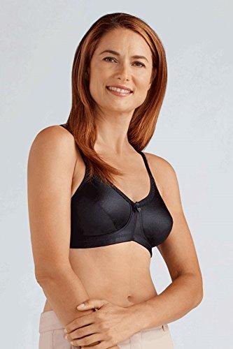 Amoena Rita Non Wired Soft Mastectomy Bra   Black Size 40A