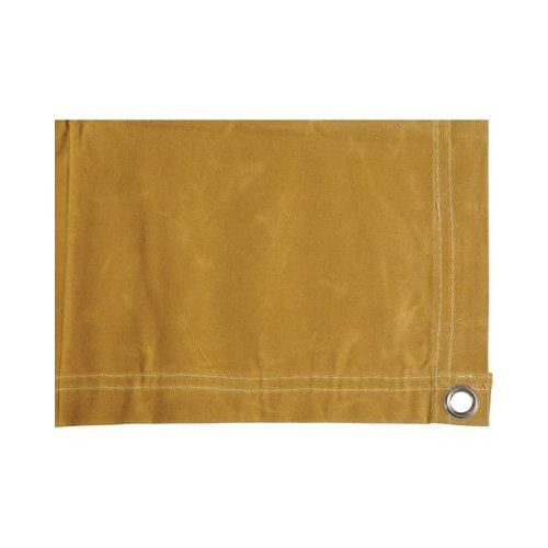 Dize Heavy-Duty 10-Oz. Treated Cotton Duck Canvas Tarp - 10ft. x 16ft, Model# CA1016 (Duty Canvas Tarp Tan Heavy)
