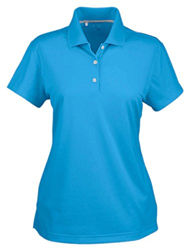 Adidas Climalite Polo Shirt (Adidas Women's Climalite Performance Basic Knit Polo Shirt, Coast, Small)