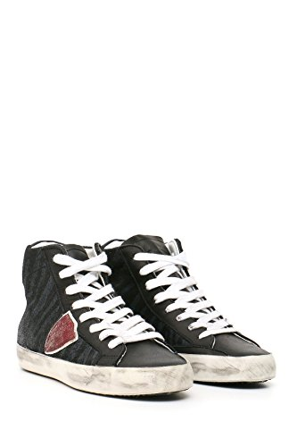 Black Philippe Model Hi Women's MCBI238002O Leather Sneakers Top Cwfqa1w