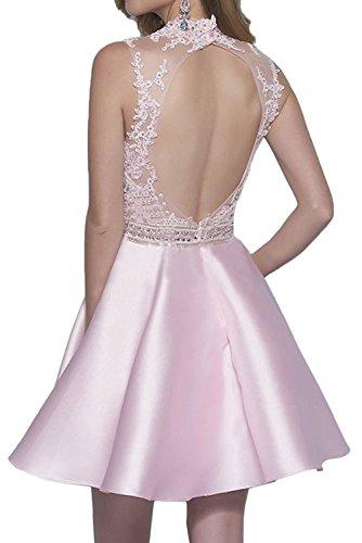 Mini Braut Orange Satin Knielang Abendkleider La Rosa Tanzenkleider Elegant Kurz Cocktailkleider Spitze Jugendweihe mia Kleider 5TqRTfWO