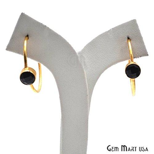 Loop Hoop Earring, Hoop Earrings, Gold Loop Earring, Gemstone Earring, GemMartUSA (BOER-90156) ()