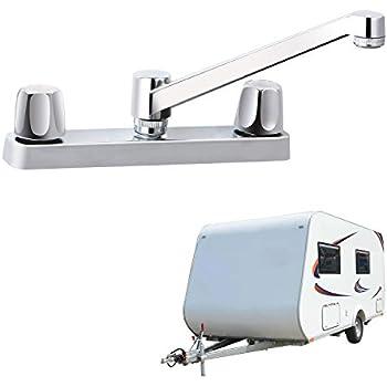 """RV Non-metallic Kitchen Faucet Two Handle-8""""-Long Spout"""