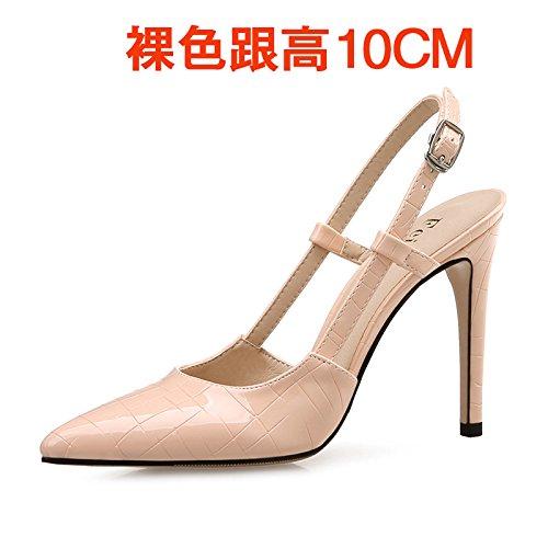 Pequeño The 10 Mujer Tamaño Vivioo Femeninas Punta Shoessummer color Cm Alto Sandalias Con Baotou La Las Vacío Bare De Yardas Tacón Fqf7w