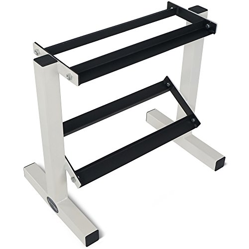 Titan Fitness 2 Tier Dumbbell Rack Stand for Workout Weights Personal Gym WOD by Titan Fitness