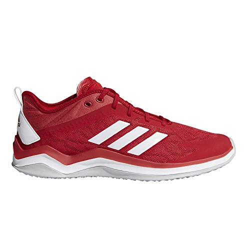 adidas Men's Speed Trainer 4 Baseball Shoe, Power red/Crystal White/Scarlet, 12 M US