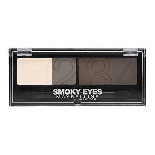 Maybelline New York Lidschatten Eyestudio Quattro Palette Natural Smokes 31 / Eyeshadow Set in Braun Tönen (inkl. Präzisions-Applikator) 1 x 5 g