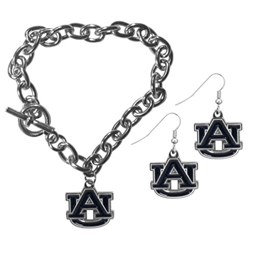 Siskiyou NCAA Auburn Tigers Chain Bracelet & Dangle Earring Set ()