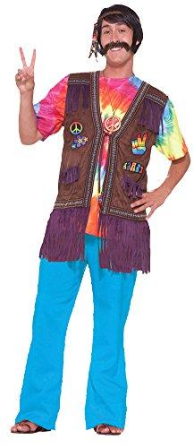Hippie Peace Vest Adult Mens Costume (Adult Hippie Costume Vest)