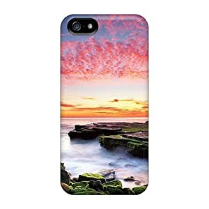 DaMMeke Perfect Tpu Case For Iphone 5/5s/ Anti-scratch Protector Case (amazing Coastal Sunset)
