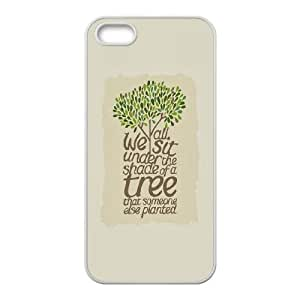 iPhone 5 5s Cell Phone Case White quotes sit under the shade of a tree OJ419433