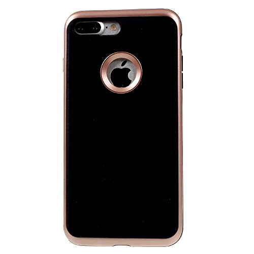 MOFI Brushed TPU + PC Frame Phone Tasche Hüllen Schutzhülle Case für iPhone 7 Plus - Rose Gold