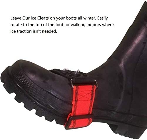 Wistar Mid-Sole Ice Traction Cleats Ice Crampons Snow Grips with Tungsten Spikes