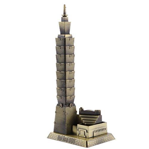MagiDeal Bronze Taipei 101 Tower Building Architecture Model of Taiwan Desktop Ornament Travel Souvenir Gift