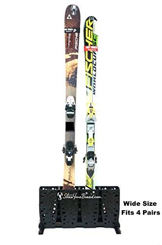 StoreYourBoard Ski Storage Rack | Freestanding Multi Skis Floor Rack