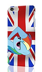 iPhone 6 Case 3D - flags United Kingdom My Little Pony Rainbow Dash Patterned Beauty Skin Hard 3d Case Cover for Apple iPhone 6 with 4.7 inches - Haxlly Designs Case