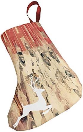 クリスマスの日の靴下 (ソックス3個)クリスマスデコレーションソックス アメリカ人男子バスケットボール1 クリスマス、ハロウィン 家庭用、ショッピングモール用、お祝いの雰囲気を加える 人気を高める、販売、プロモーション、年次式