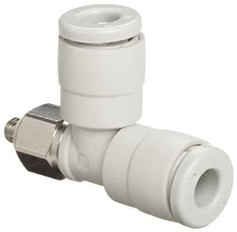Nylon Pneumatic MALE STUD 90 degree METRIC tube push fit connector 4mm M5