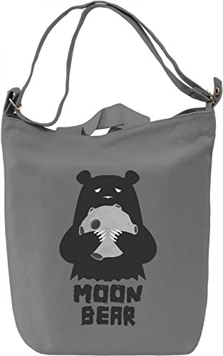 Moon bear Borsa Giornaliera Canvas Canvas Day Bag| 100% Premium Cotton Canvas| DTG Printing|