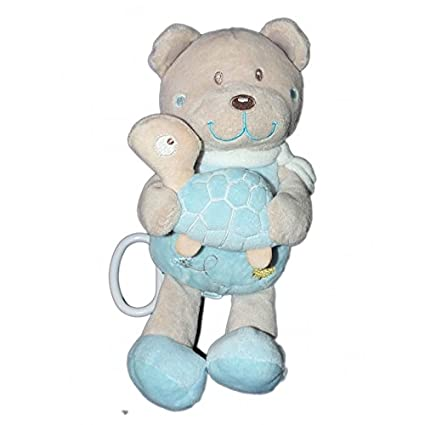 Doudou peluche Musicale OURS bleu gris - Tortue - TEX Baby ...