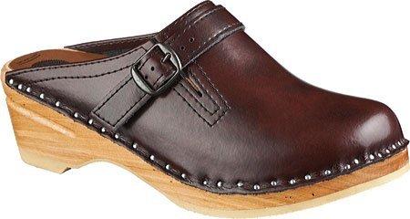 (Troentorp Women's Båstad Original Raphael Leather Clog, Black Cherry Leather, 38 EU (8 US))