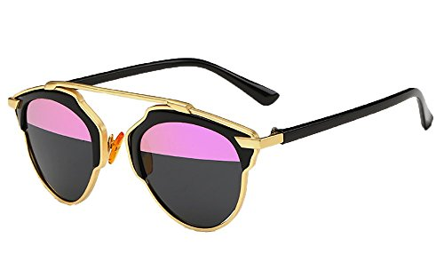 Ralink Polarized Sunglasses Cat Eye UV TAC Lens Metal Retro Glasses for Womens