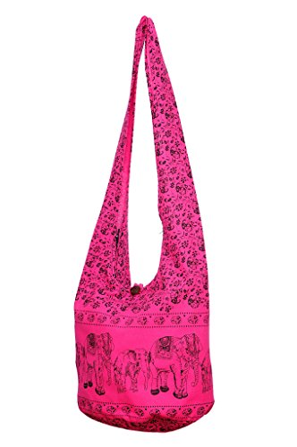Bohemian Cotton Hippie Pink Crossbody Print Bag Avarada Sling Thai Messenger Elephant Purse Hobo ZRzqzw