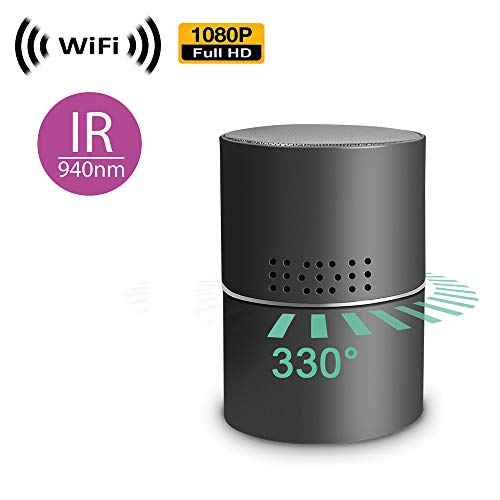 1080P HD Spy Camera with WiFi Digital IP Signal, Recording & Remote Internet Access, Camera Hidden in a Multimedia Speaker.