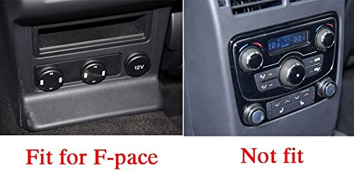 MAVMAX for Jaguar F-Pace f pace X761 2016 2017 ABS Chrome Rear Seat Air Conditioning Outlet Frame Cover