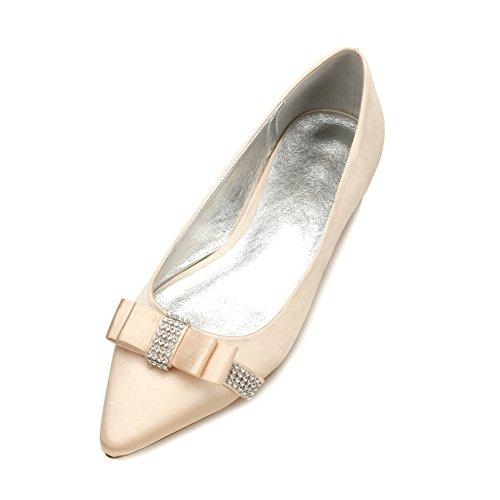 scarpe donna da scarpe l'Ufficio Champagne matrimonio delle Lo partito Qingchunhuangtang basse con della punta calzature scarpe scarpe grande luce Alla con Moda piano aaRq6YH