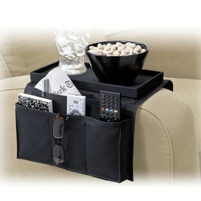 Pocket Couch Organizer Table Top Black