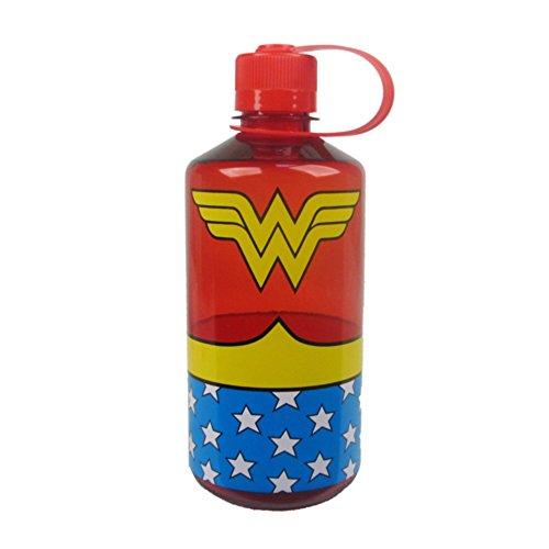 DC Comics Wonder Woman Uniform 1 Liter Plastic Water Bottle (with Gift Box)