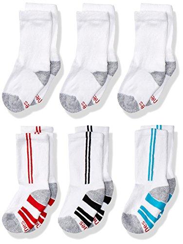 Hanes Boys' Big 12-Pairs Crew Socks, White, Small