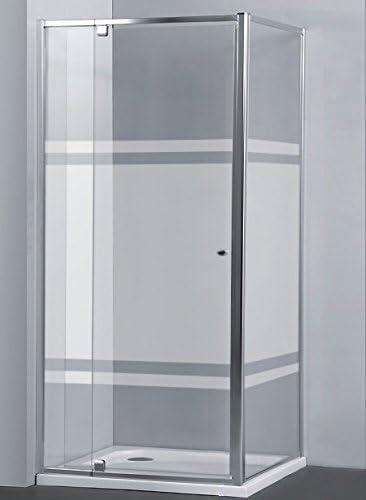 Mampara AURA Rectangular Pivotante con Lateral Fijo de 80 cm - 2 Hojas FIJAS + 1 Hoja PIVOTANTE. Cristal SERIGRAFIADO (120 x 80 x 195 cm): Amazon.es: Bricolaje y herramientas