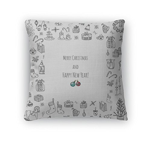 Gear New Throw Pillow Accent Decor, Christmas Icons Set, 20