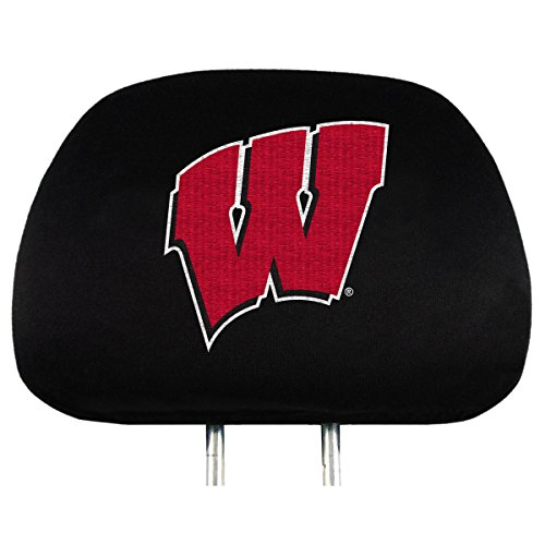 NCAA Wisconsin Badgers Head Rest Covers, - Outlets Wisconsin