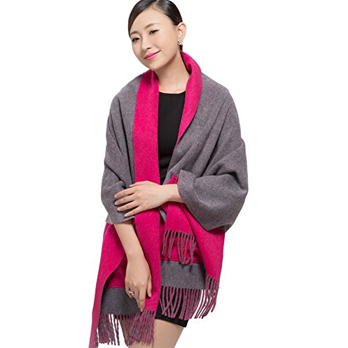 Shawl/Lady thicken more versatile scarf in winter/ Pocket double-sided scarf-A One Size by clothing