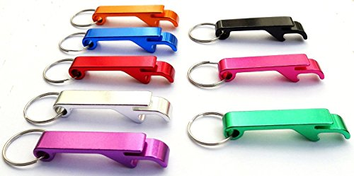 Set of 8 - Key Chain Beer Bottle Opener / Pocket Small Bar Claw Beverage Keychain Ring by B.N.D Top