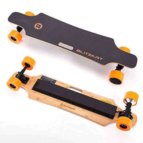 "BLITZART Huracane 38"" Electric Skateobard Longboard E-Skateboard Motorized Electronic Hub-Motor 3.5"" Wheels"