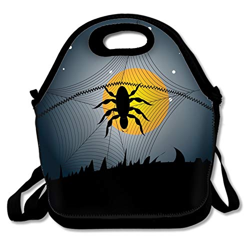 MIKONG Stylish Halloween Spider Lunch Box Office Work Men Women Teens Boys -