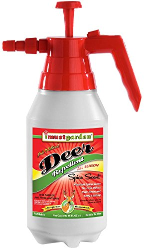 I Must Garden Deer Repellent - 45oz Easy Spray Bottle: Spice Scent Deer Spray for Gardens, Plants, and Trees - Natural and -