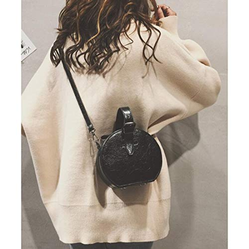 shoulder Shoulder Brown Black circular bag bag ladies MALLTY tote Color leather bag back PU UqtfdwxnZ
