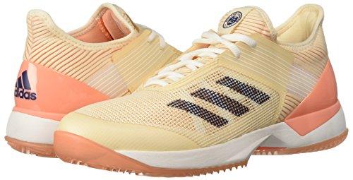 adidas 3 w Clay Shoe, Ecru Coral, M