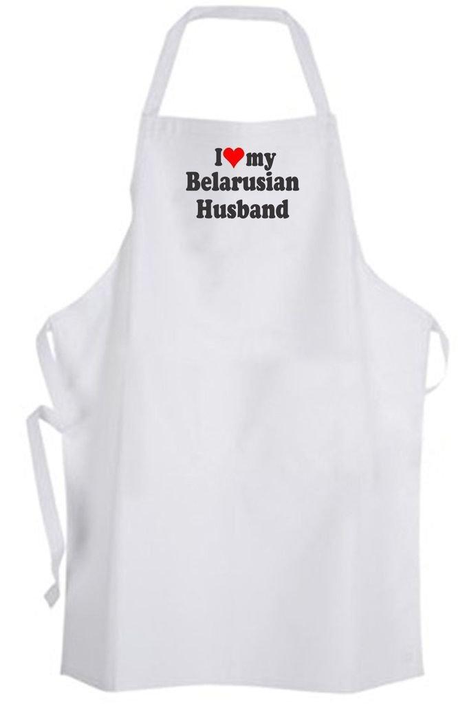 I Love my Belarusian Husband – Adult Size Apron – Wedding Marriage Wife