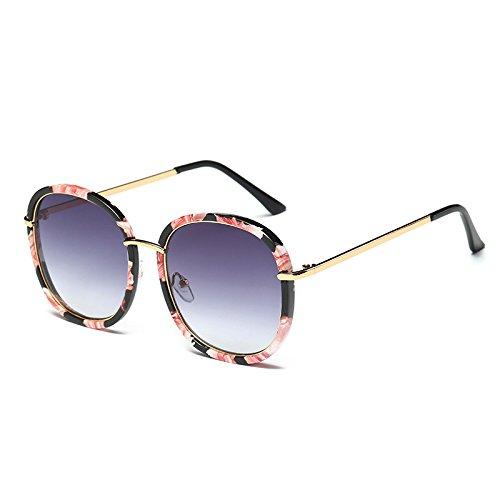 Gray espejo gafas Negro polarizadas gafas de Mujer TL Cuadrado de Bastidor C4 C5 señoras de Flower UV G410 gafas sol azul sol Flor Sunglasses tonos Unidad wf1p4