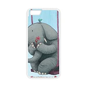 Elephant on Swing Case Cover For SamSung Galaxy Note 2 With Design With White