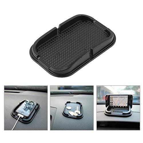 Elegante estilista de coches negro Pegajoso Pad Mat Anti antideslizante Gadget Tel/éfono GPS Holder