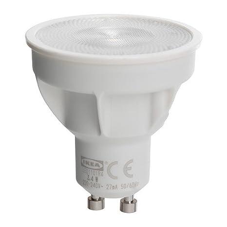 Ikea Ledare – Bombilla LED GU10, Spot, 3.4 W (Blanco Cálido 2700 °