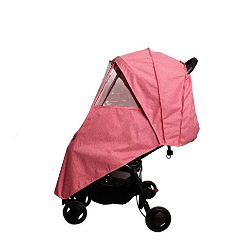 Pink Winter Stroller Cover - LaChaDa Stroller Cover Weather Shield Universal Waterproof Protection Umbrella Wind Dust Cover for Strollers(Pink)