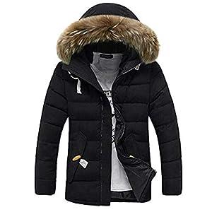 Eastway Homme Manteau d'Hiver Blousons Chaud Parka Fourrure à Capuche épais Manteau